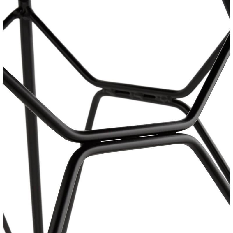Silla de diseño de tela de pie de metal negro MOUNA (gris antracita) - image 48116