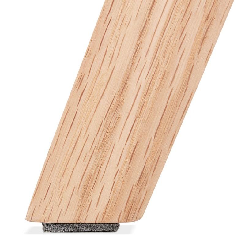 Chaise bohème patchwork en tissu pieds bois finition naturelle MARIKA (multicolore) - image 48242