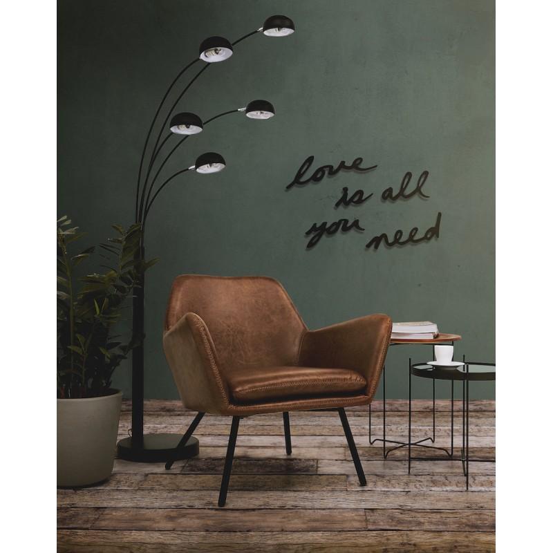 Fauteuil lounge design et rétro HIRO (marron) - image 48247