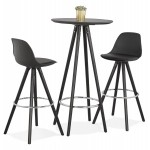 Tabouret de bar chaise de bar design pieds noirs OCTAVE (noir)