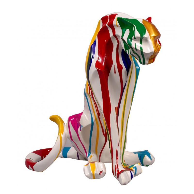 Statue sculpture décorative design PANTHERE TRASH en résine H55cm (Multicolore) - image 48286