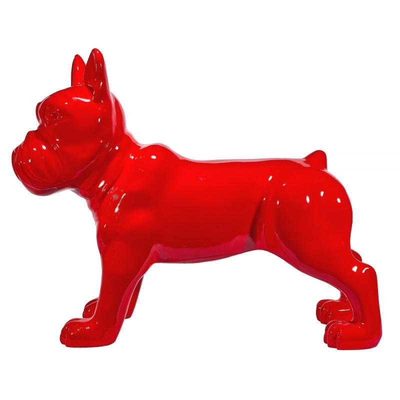 Statue sculpture décorative design CHIEN DEBOUT en résine H80 cm (Rouge) - image 48309