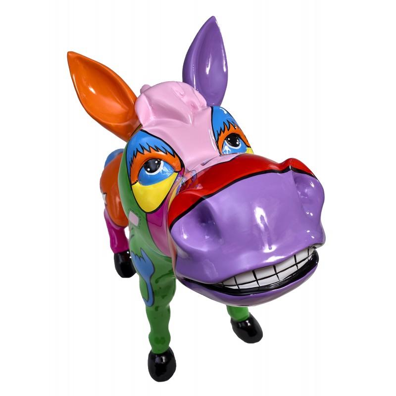 Statue sculpture décorative design CHEVAL POP ART en résine H54 cm (Multicolore) - image 48323