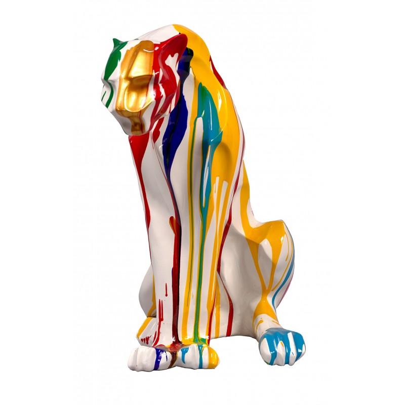 Statue sculpture décorative design PANTHERE TRASH en résine H55cm (Multicolore) - image 48325