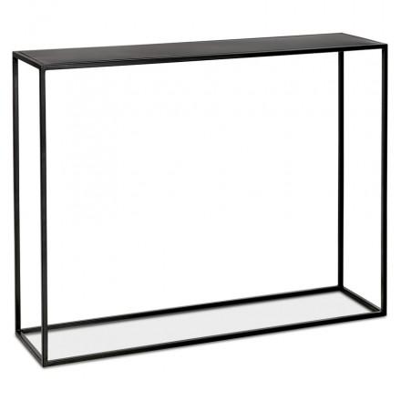 Consola de metal INDUSTRIAL ROSALINE (negro)