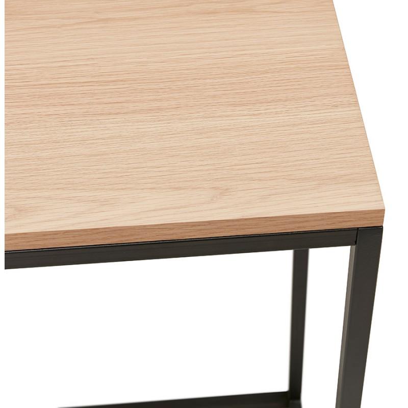 Consola de diseño de madera y metal negro ROSALINE (acabado natural) - image 48363