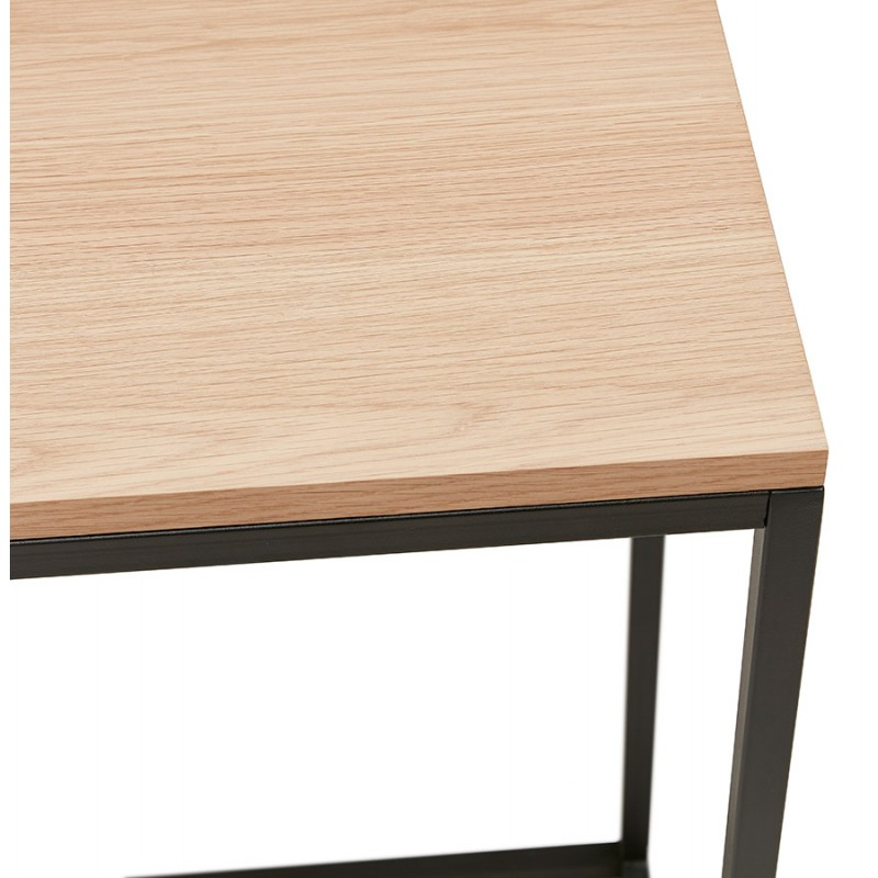 Console di design in legno e metallo nero ROSALINE (finitura naturale) - image 48363