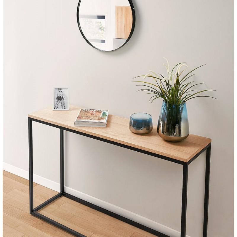 ROSALINE Holz- und Schwarzmetall-Designkonsole (natürliche Ausführung) - image 48367