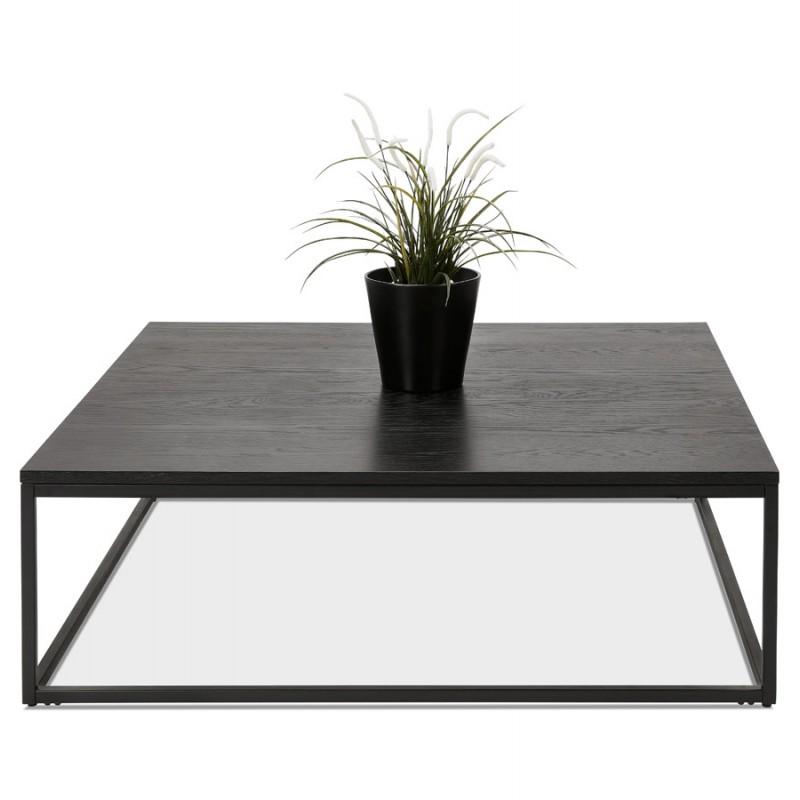 Table basse design industrielle en bois et métal noir ROXY (noir) - image 48374