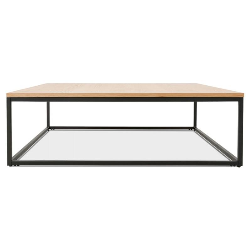 Mesa de centro de diseño de madera y metal negro ROXY (acabado natural) - image 48376