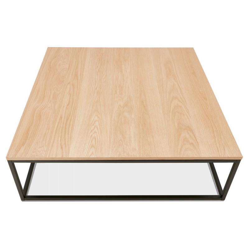Table basse design en bois et métal noir ROXY (finition naturelle) - image 48377