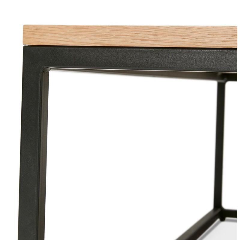 Mesa de centro de diseño de madera y metal negro ROXY (acabado natural) - image 48379