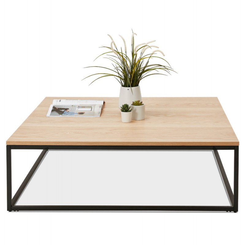 Tavolino in legno ROXY e metallo nero (finitura naturale) - image 48381