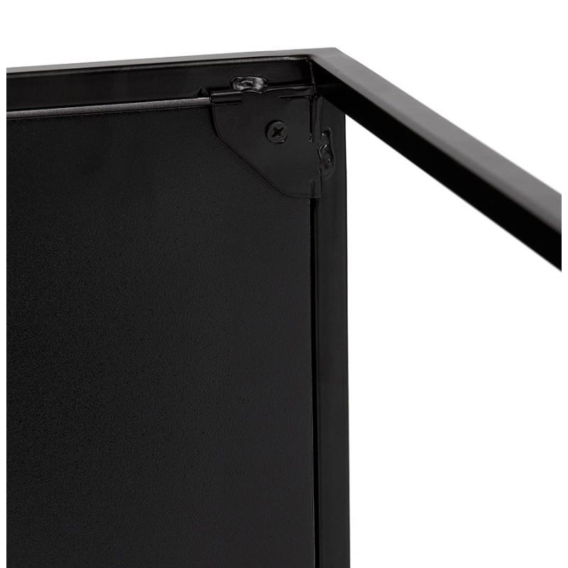 Set de 3 Tables gigognes style industriel en bois et métal noir ROSY (noir) - image 48391