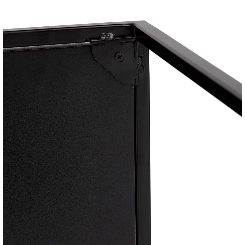 Conjunto de 3 mesas gigognes estilo industrial en madera y metal negro ROSY (negro) - image 48391