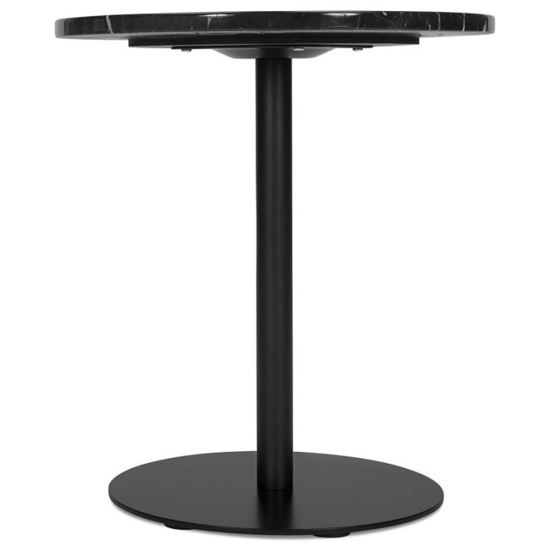 Table d'appoint design ronde en marbre ROXANE (noir) - image 48410