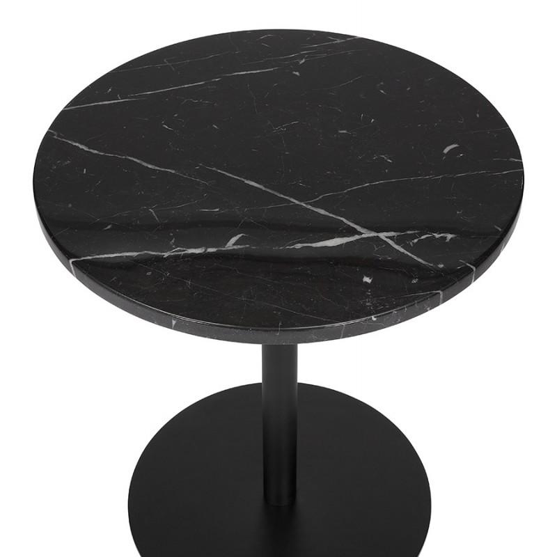 Table d'appoint design ronde en marbre ROXANE (noir) - image 48411