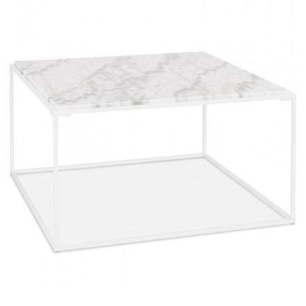 ROBYN marmoriert Stein Design Couchtisch (weiß)