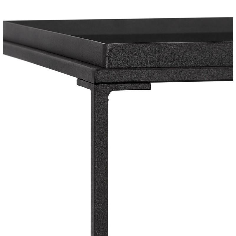 RAQUEL MINI glass and metal design side table (black) - image 48431