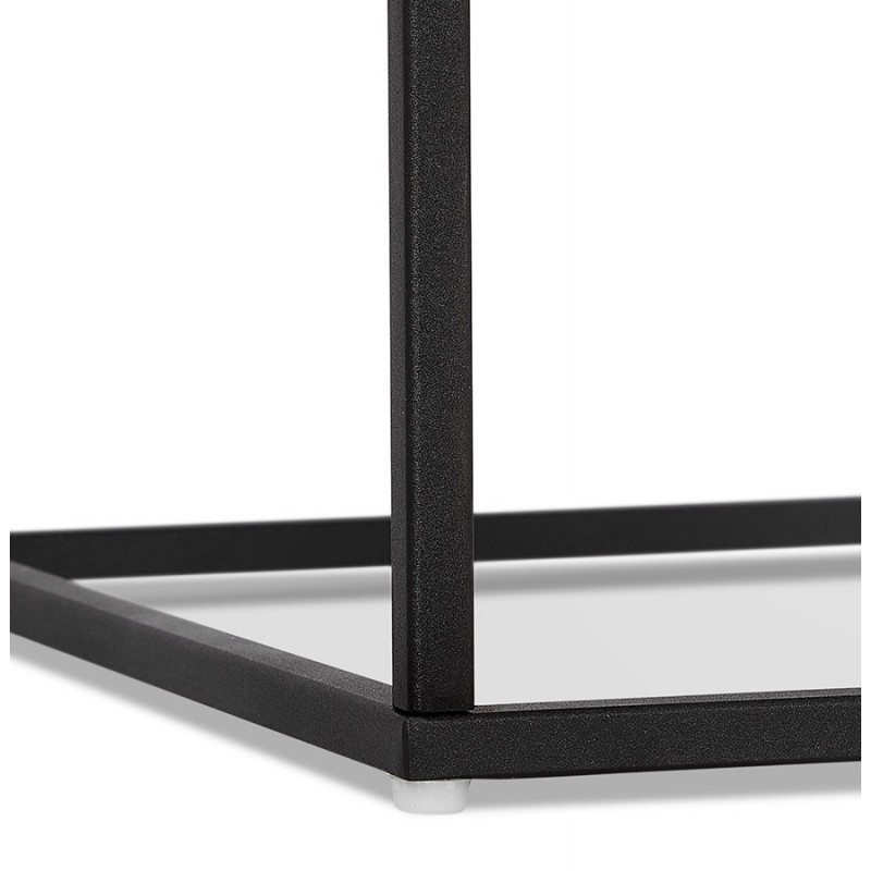 Table d'appoint design en verre et métal RAQUEL MINI (noir) - image 48433