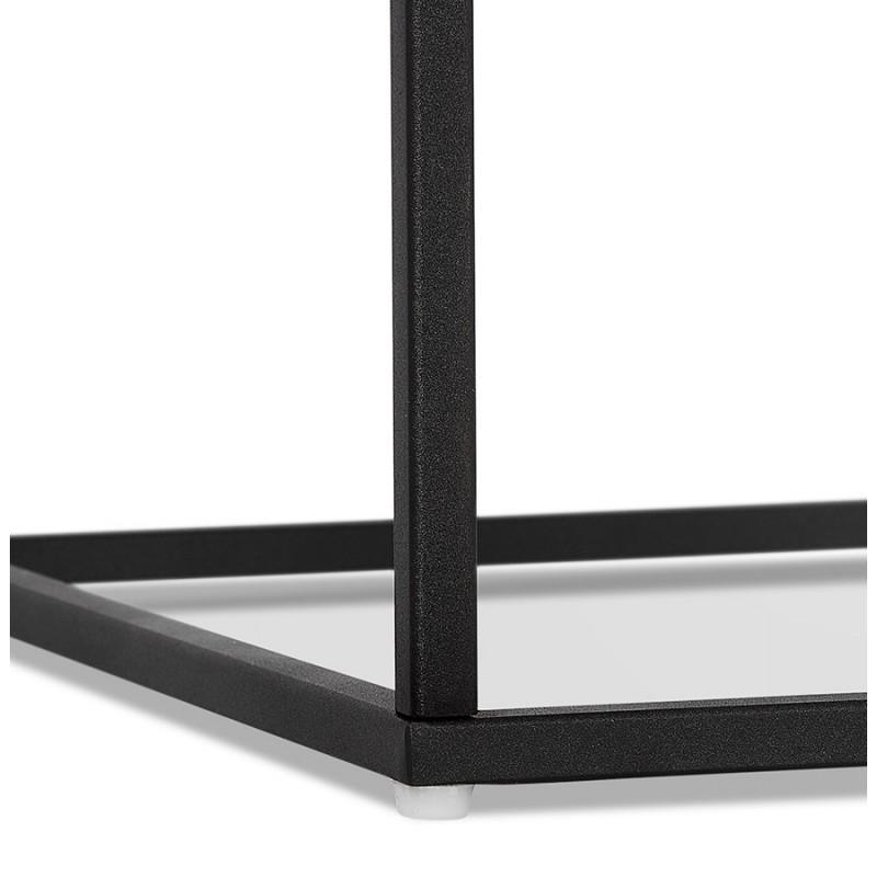 RAQUEL MINI glass and metal design side table (black) - image 48433