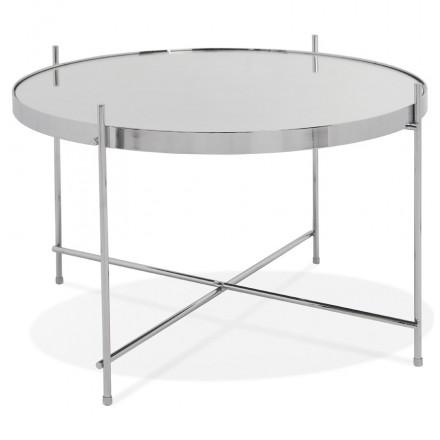 Table basse design, table d'appoint RYANA MEDIUM (chrome)
