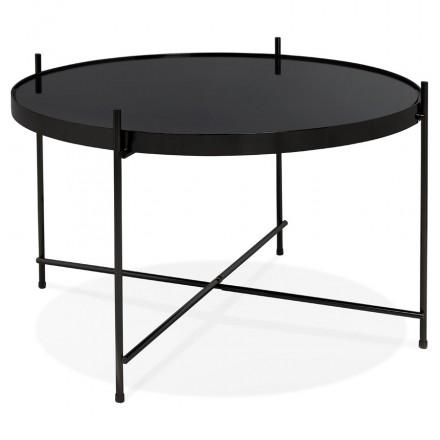 Design coffee table, RYANA MEDIUM side table (black)