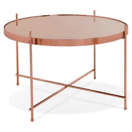 Table basse design, table d'appoint RYANA MEDIUM (cuivre)