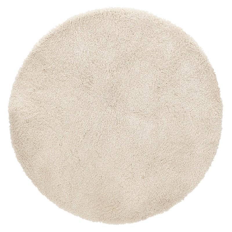 Alfombra de diseño redondo (200 cm) SABRINA (beige) - image 48529