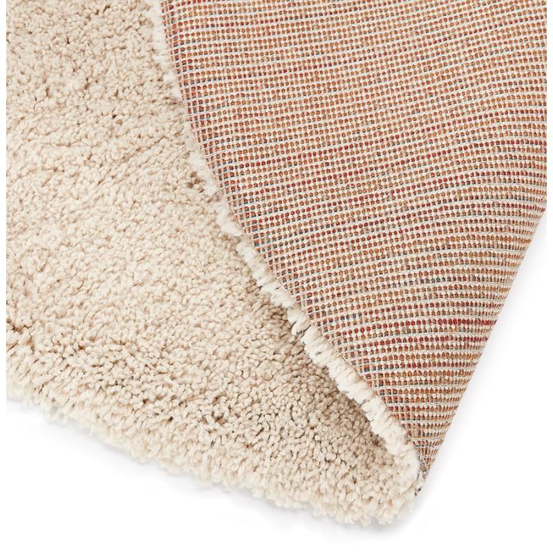 Alfombra de diseño redondo (200 cm) SABRINA (beige) - image 48533