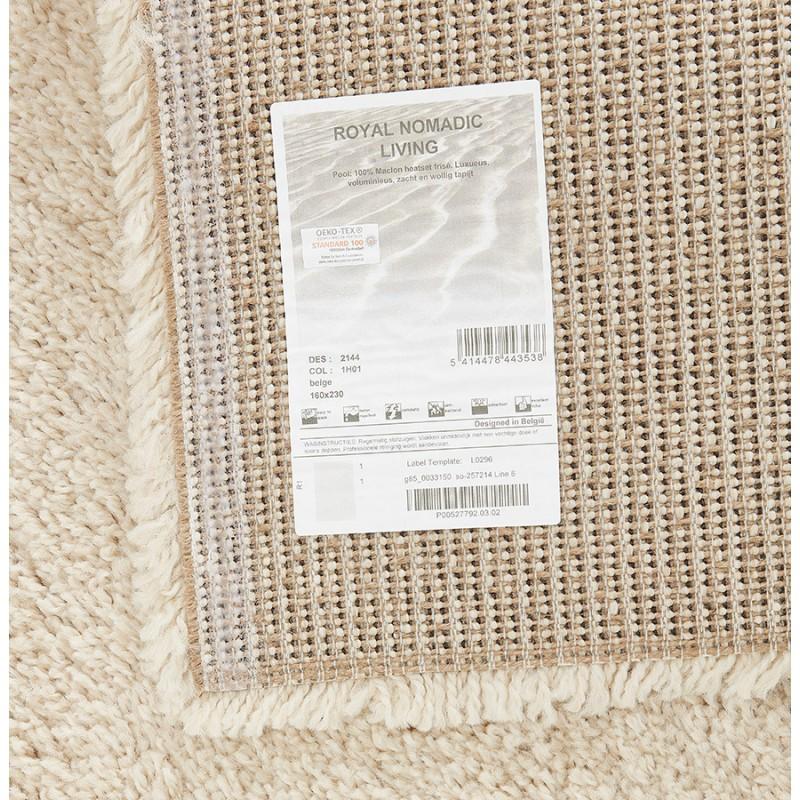 Tapis design rectangulaire - 120x170 cm SABRINA (beige) - image 48560