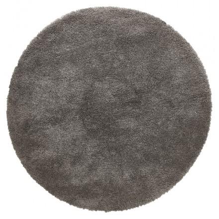 Tappeto rotondo (200 cm) SABRINA (grigio scuro)