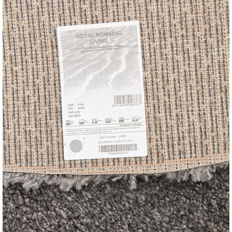 Tapis design rond (Ø 200 cm) SABRINA (gris foncé) - image 48568