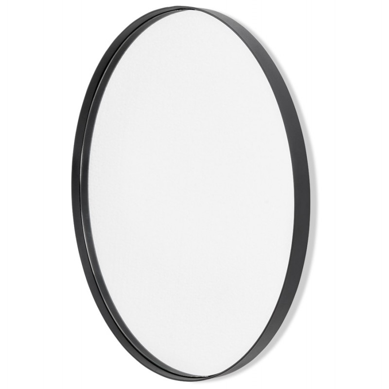 Metall rund DesignSpiegel (60,5 cm) PRISKA (schwarz) - image 48600