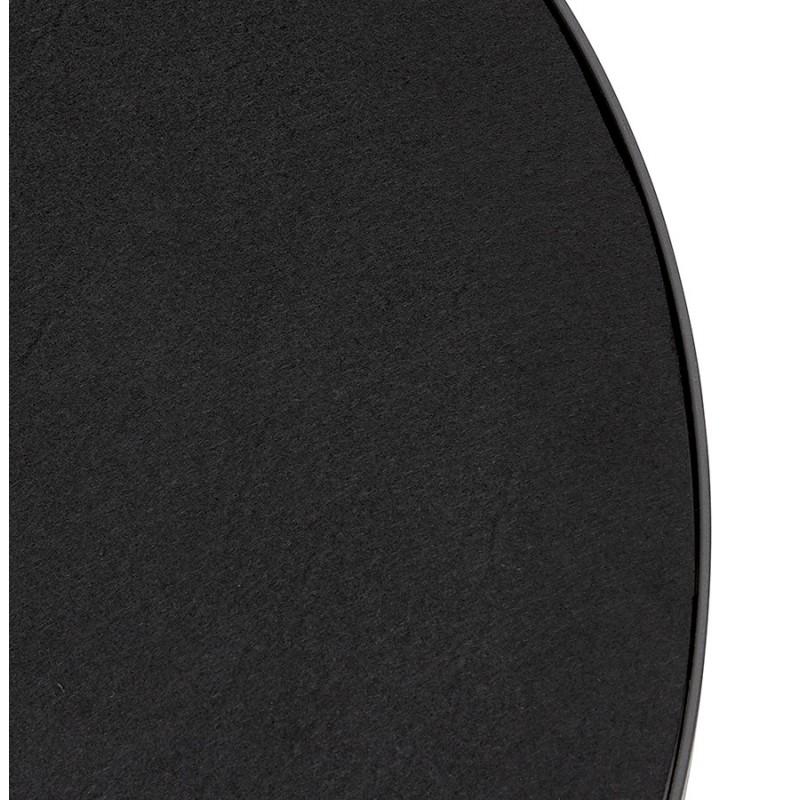 Metal round design mirror (60.5 cm) PRISKA (black) - image 48602