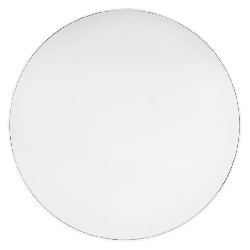 Metal round design mirror (60.5 cm) PRISKA (white) - image 48606