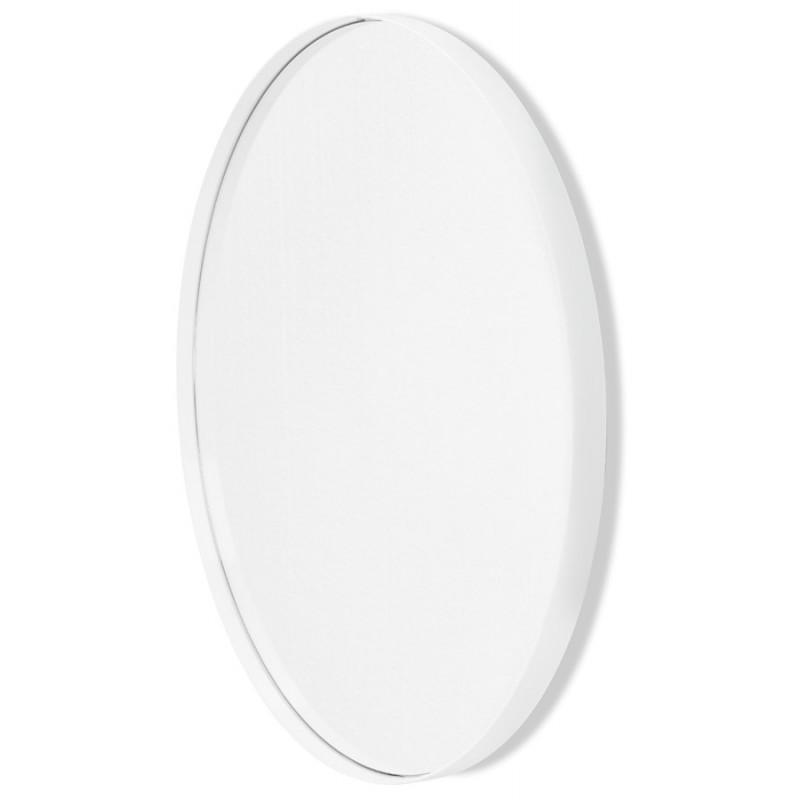 Metal round design mirror (60.5 cm) PRISKA (white) - image 48607