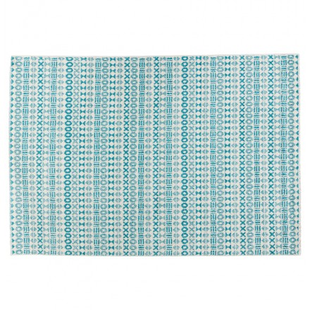 Rectangular graphic carpet - 160x230 cm - SELINA (blue)