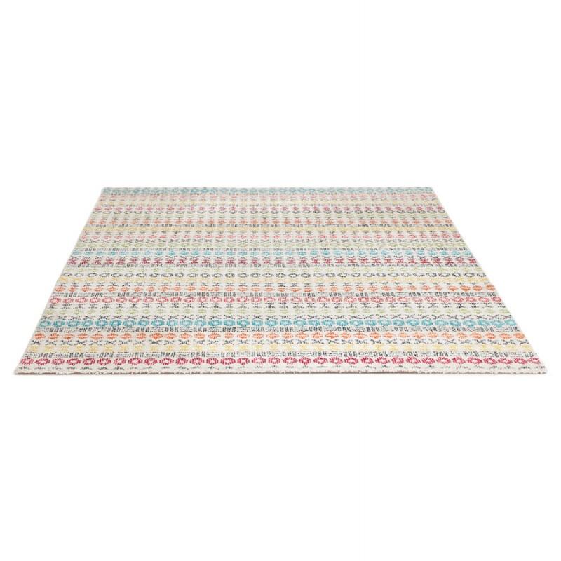 Tapis graphique rectangulaire - 160x230 cm - SELINA (multicolore) - image 48636