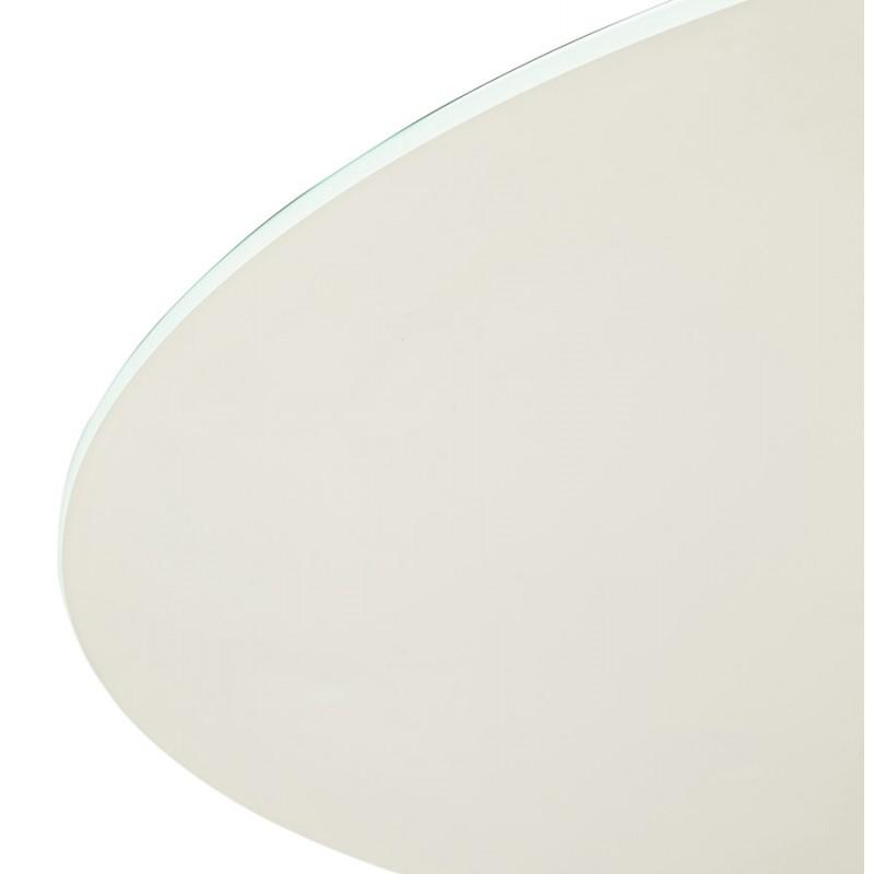Runder Esstisch aus Glas und Metall (120 cm) URIELLE (weiß) - image 48759