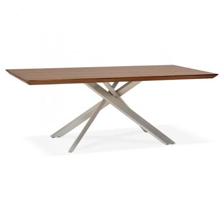 Diseño de madera y metal cepillado de acero (200x100 cm) CATHALINA (ahogamiento)