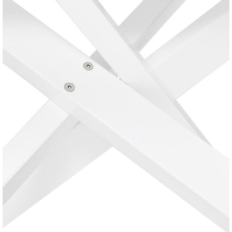 Mesa de comedor de diseño de vidrio y metal blanco (200x100 cm) WHITNEY (negro) - image 48841