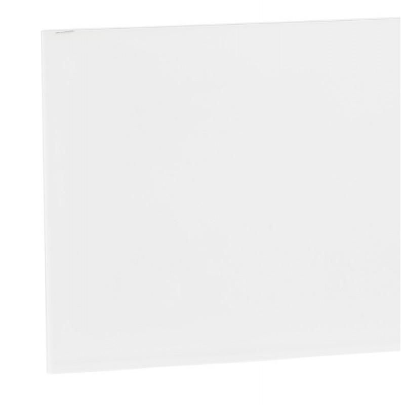 Table à manger designen verre et métal blanc (200x100 cm) WHITNEY (blanc) - image 48849