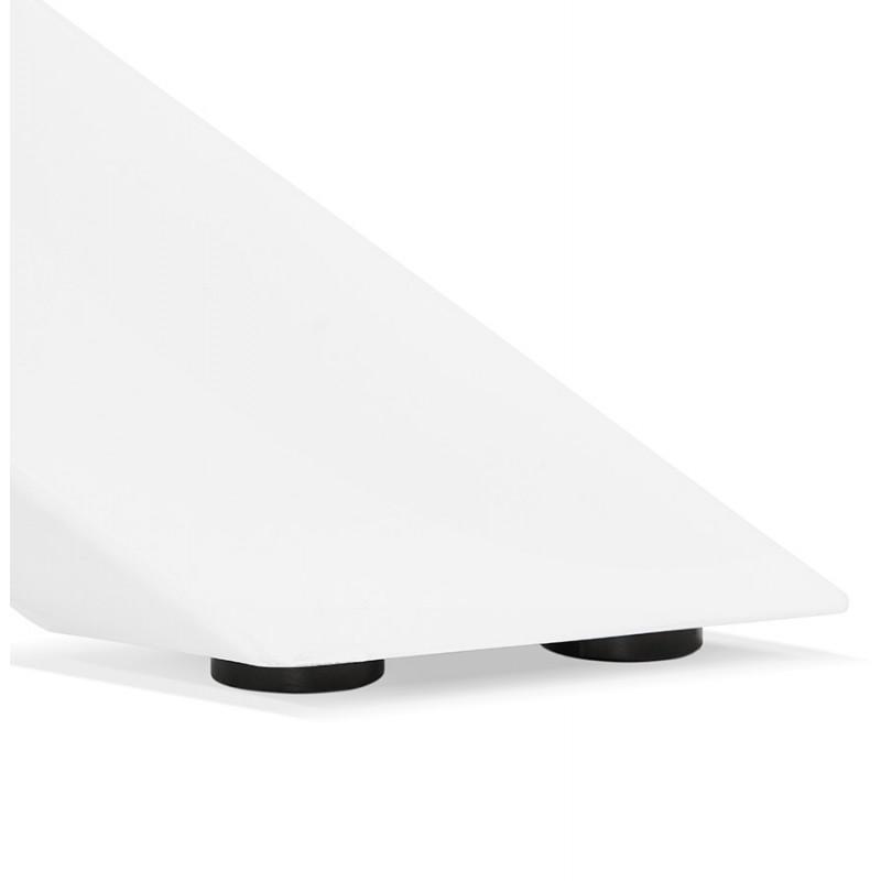 Table à manger designen verre et métal blanc (200x100 cm) WHITNEY (blanc) - image 48853