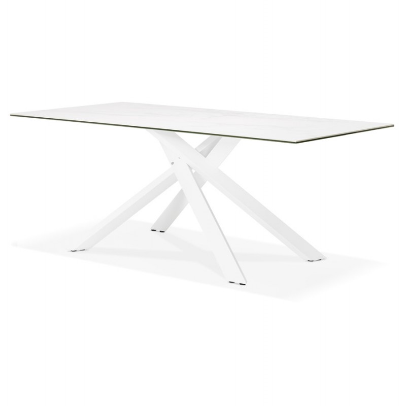 Design in ceramica e metallo bianco (180x90 cm) FLORINA (bianco) - image 48859