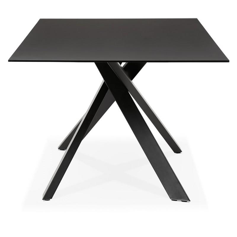 Mesa de comedor de diseño de vidrio y metal negro (200x100 cm) WHITNEY (negro) - image 48893