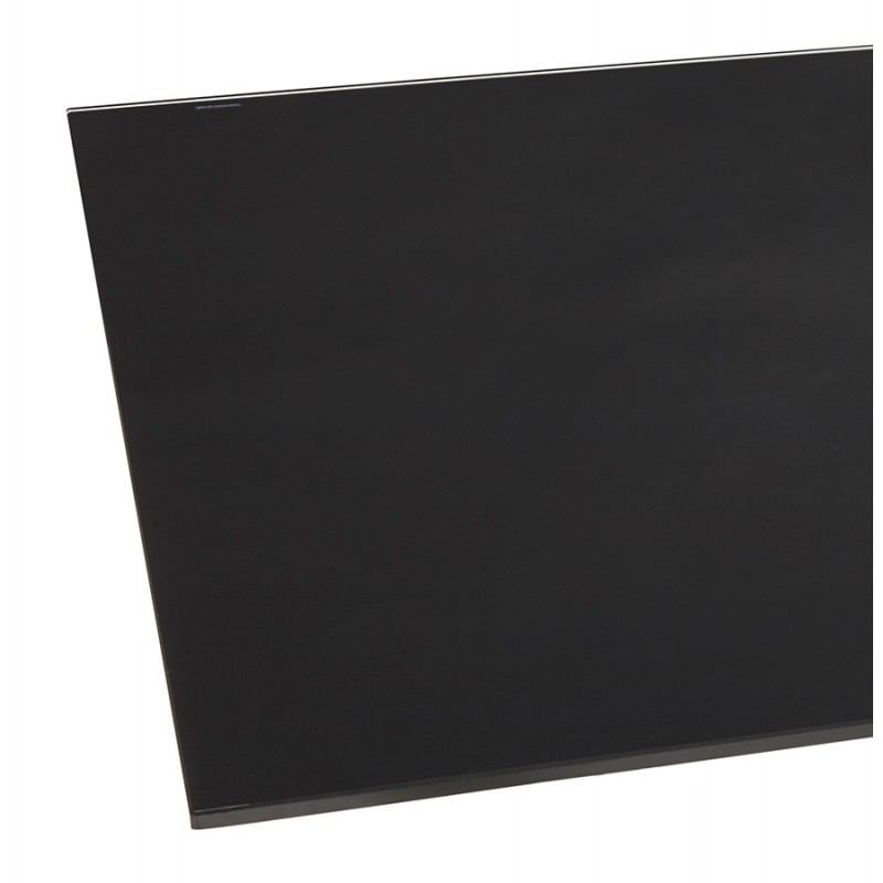 Mesa de comedor de diseño de vidrio y metal negro (200x100 cm) WHITNEY (negro) - image 48895