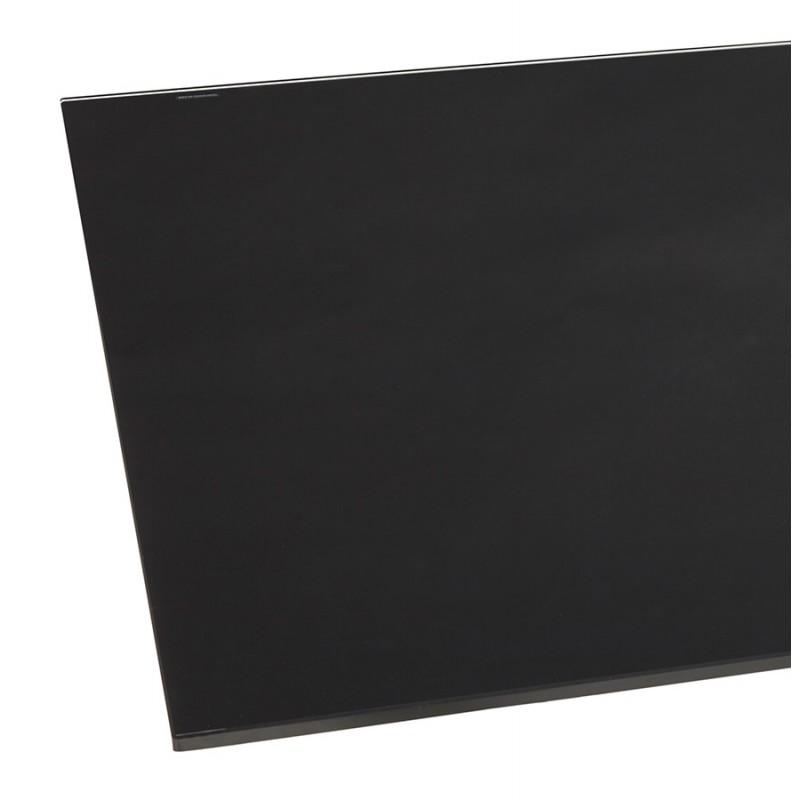 Table à manger design en verre et métal noir (200x100 cm) WHITNEY (noir) - image 48895
