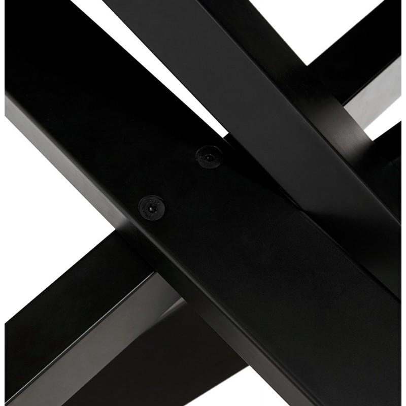 Mesa de comedor de diseño de vidrio y metal negro (200x100 cm) WHITNEY (blanco) - image 48908