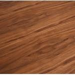 Table à manger design en bois et métal noir (200x100 cm) CATHALINA (noyer)
